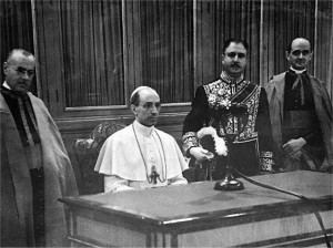 Pius XII consecrates the world to the Immaculate Heart of Mary
