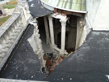 Damage to the Blessed Sacrament Cathedral