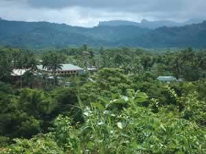Vanuakula Mission in the hills near Suva