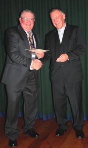 Glen McCullough receives the Award