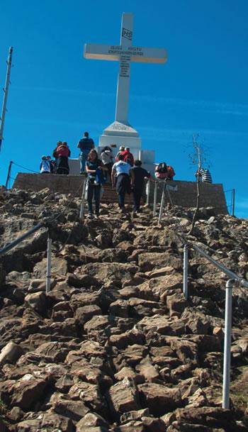 The summit of Cross Mountain