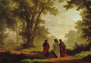 Robert Zünd, The Road to Emmaus, 1877
