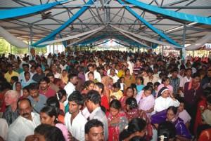 Crowd at Shrine