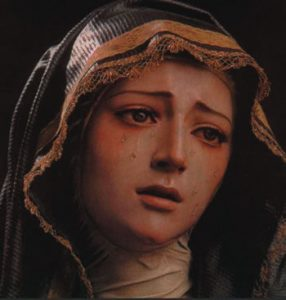 """Mary lived and suffered like us ..."""
