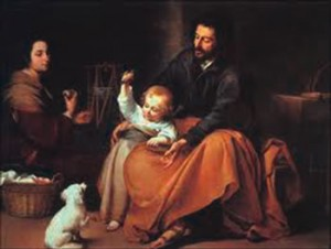 The Holy Family by Murillo.