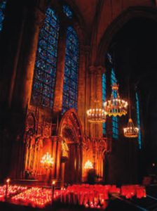 Interior of Chartres Cathedral