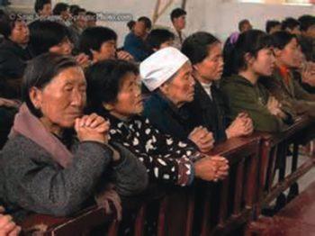 Chinese at prayer
