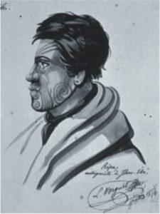 Rewa, Chief of Kororareka, New Zealand by Verguet
