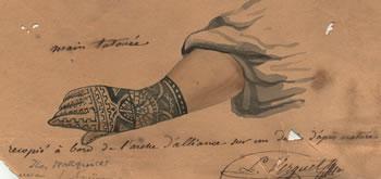 A Tatooed Hand by Verguet