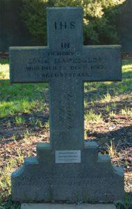 John MacKillop's grave, Barbadoes Street Christchurch
