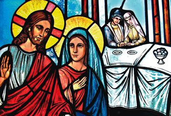 Wedding Feast At Cana.Mary For Today Mary And Jesus At The Wedding Feast At Cana