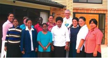 Interprovincial  noviate staff and novices with Bishop Pat Dunn, Manurewa, 2009