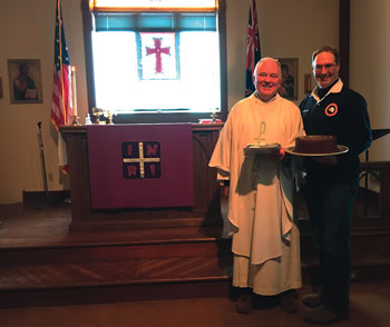 Fr K Purcell and Chaplain P Drury   Chapel of  the Snows  Antarctica