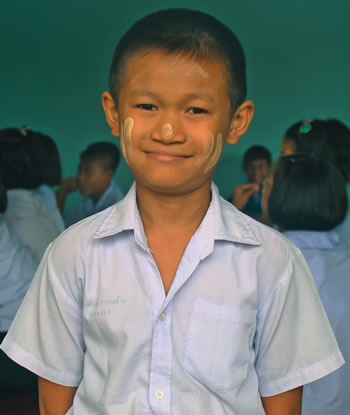 90% of Burmese children leave school at 12 years of age to work for their family.