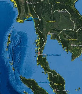 Ranong Map