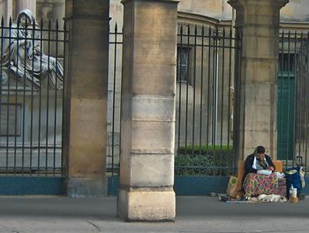 Begging in Central Paris