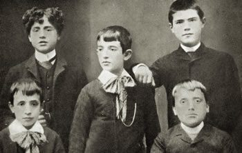 Eugenio Pacelli, front left, at Collegio Padri Filippini in Rome