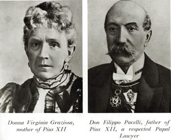Virginia and Filippo Pacelli, Pope Pius XII's parents