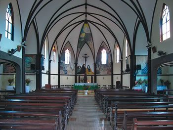 Interior of St Louis Church, New Caledonia