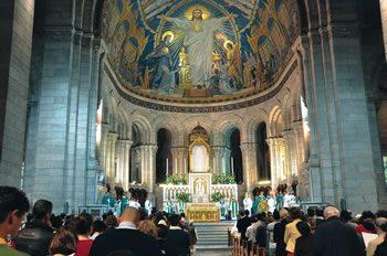 Celebration of the Eucharist, Sacré Coeur Basilica