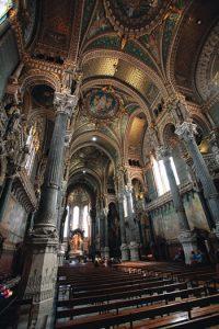 Interior of Notre Dame de Fourvière Basliica