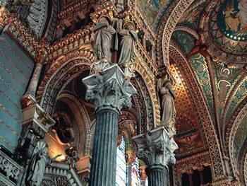 Interior of the Basilica of Notre Dame de Fourvière