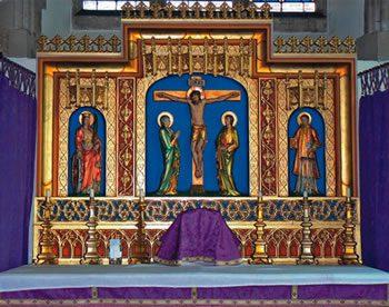 Altar in the Slipper Chapel, Walsingham