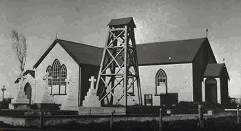 St Patrick's Church, Panmure, built in 1852; replaced by a brick building, 1959