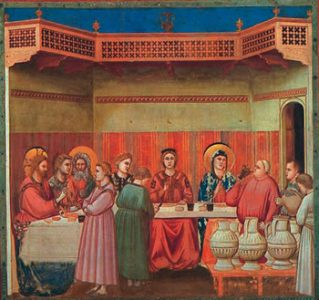 Mary at the Wedding Feast of Cana, Giotto, 14th Century